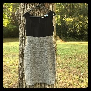 Sparrow Black and Gray Houndstooth Dress Size S