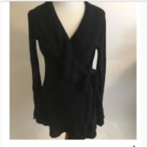 Anthropologie Guinevere LS Ruffle Wrap Sweater