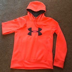 Orange Under Armour Coldgear hoodie!