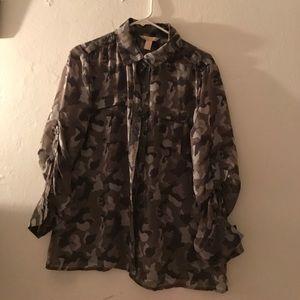 Banana republic camouflage blouse
