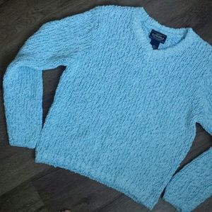 Fluffy Blue/White Sweater