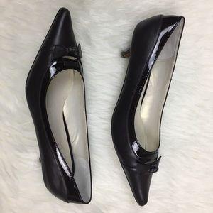 Talbots brown kitten heels
