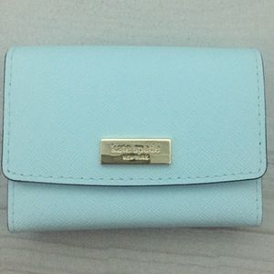 Kate Spade Business Card Holder (Teal Blue)