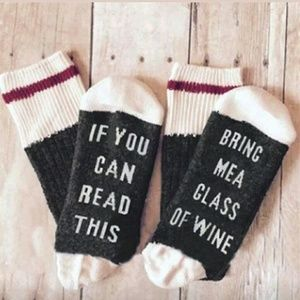 Wine Socks If You Can Read This, Gift Beer Grey