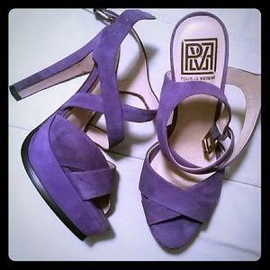 EUC Purple Suede Pour La Victoire Heels