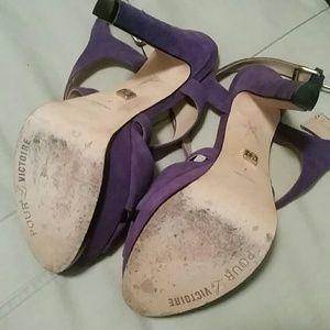Pour La Victoire Shoes - EUC Purple Suede Pour La Victoire Heels