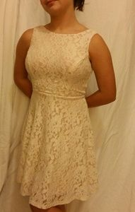 Speechless Blush Lace Dress Juniors