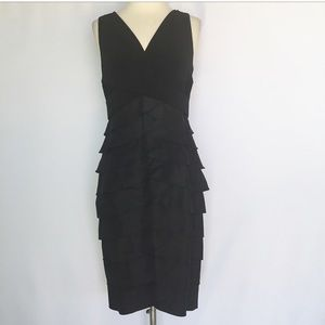 Adrianna Papell Black Tiered Dress