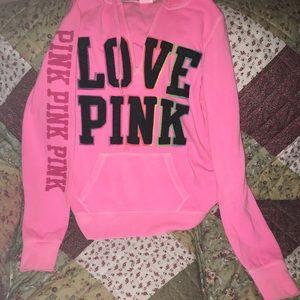 Pink Victoria secret hoodie