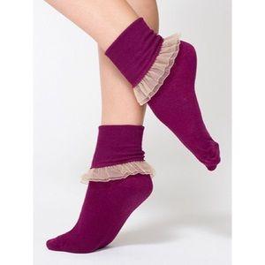 American Apparel Frilly Socks