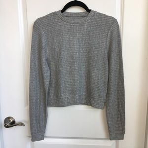 Sweaters - NWOT Cropped Cozy Heather Grey Sweater