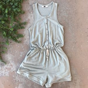 Anthropologie Everleigh Green Soft Lounge Romper