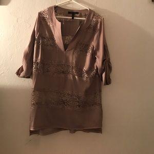 BCBGMAXAZRIA taupe blouse