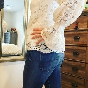 NWTs Adrianna Papell Lace Top