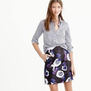 [J. Crew] A-Line Violet Poppy Mini Skirt