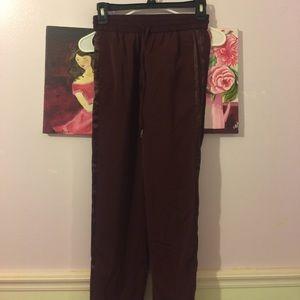 Burgundy trousers never worn