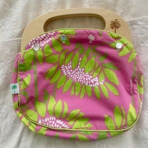 Lilly Pulitzer Reversible Wooden Handle Clutch