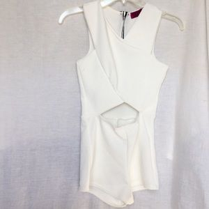 White romper with stomach cut out