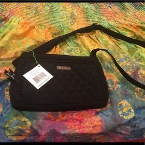 Vera Bradley crossbody black Little Hipster- NWT!