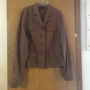 Trendy Military Style Linen Jacket