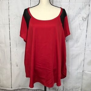 Torrid Red and Black Size 3 Blouse