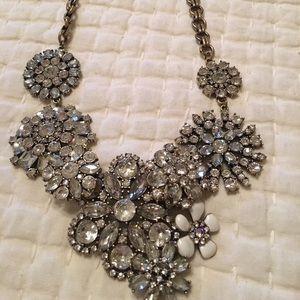 J Crew Flower Lattice Statement necklace