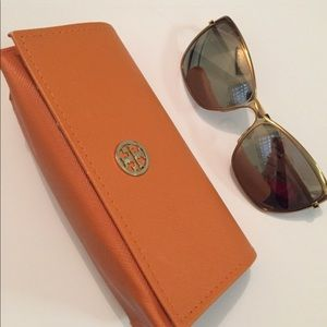 Tory Burch Gold Sunglasses with Case