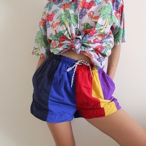 Vintage Rainbow Swim Shorts