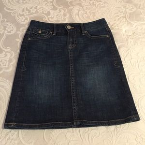 Old Navy Stretch Low Waist Denim Skirt/Dark Wash