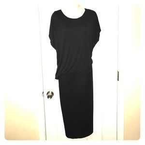H&M drop waist cotton pencil dress size large