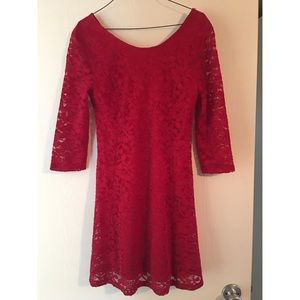 Nordstrom brand Lush Red Lace Dress