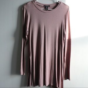 F21 Taupe Long Sleeved Tunic