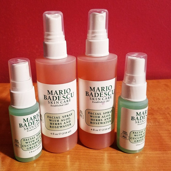 Brand New Mario Badescu Facial Spray Set Nwt