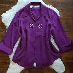 Vintage hidden button blouse