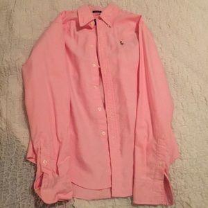 Women's button up shirt.