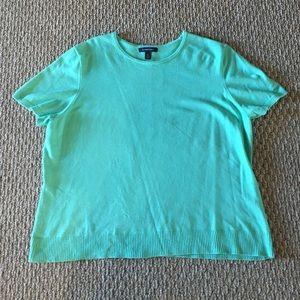 Lands' End Mint Green Short Sleeve Sweater
