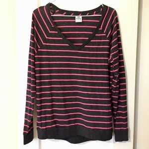 💘 VS PINK Striped Long Sleeve Tee