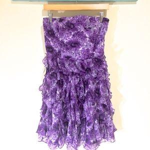 NWT WHBM Purple Ruffle Cocktail Dress