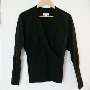 LOFT Black Cashmere Sweater