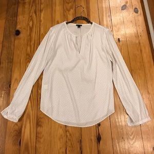 Like New Ann Taylor Polka Dot Blouse