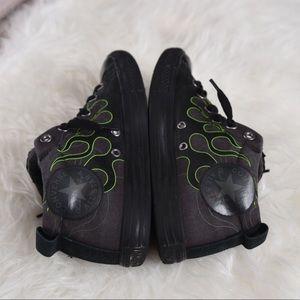 471578ecde50 Converse Shoes - Boys converse green flame no time to tie shoes