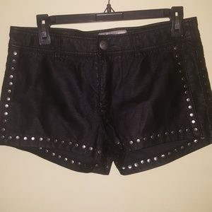 Free People leather shorts
