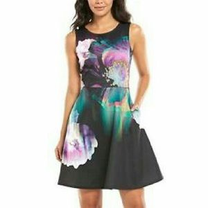 APT. 9 Fit and Flare Scuba Dress Sz M