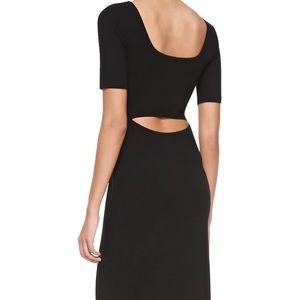 Narlissa Prosecco Half-Sleeve Dress W/ Cutout Back