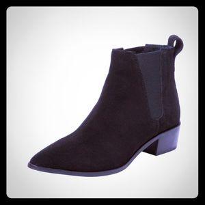 SEYCHELLES black genuine suede Chelsea booties