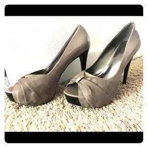 Carlos Santana peep toe high heels