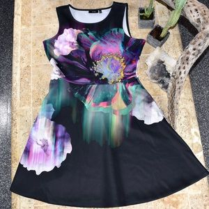 APT. 9 technicolor flower a line dress