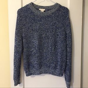 Blue & White heavy knit sweater