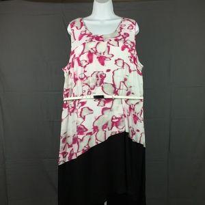 LANE BRYANT 6th & Lane Dress Pink White Black
