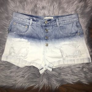 Ombré Destroyed Shorts